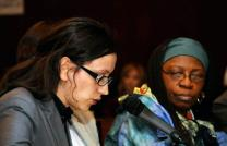 Eli Gashi of Kosovo, left, and Beatrice Fofanah of Sierra Leone were among the grassroots women sharing their experiences at the 56th U.N. Commission on the Status of Women meeting in 2012. A UMNS photo by John C. Goodwin.