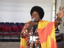 Pastor Winniemore Chauke leads worship during the annual Pastors' School held on the campus of Africa University in Mutare, Zimbabwe. A UMNS web-only photo by Taurai Emmanuel Maforo.