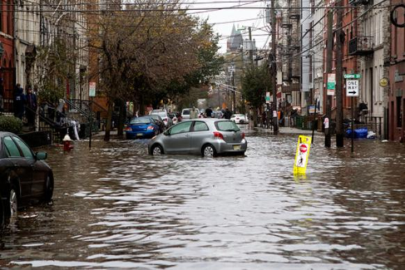 Streets are flooded the day after Hurricane Sandy hit New Jersey. Photo by the Rev. Chris Heckert.