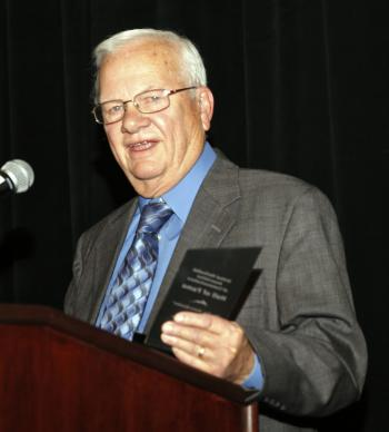 The Rev. Boyce A. Bowdon is inducted into The United Methodist Association of Communicators Hall of Fame. Photo by Art McClanahan.