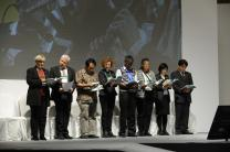 Morning prayer on Nov. 1 at 2013.World Council of Churches 10th Assembly, Busan, Korea. Peter Williams/WCC
