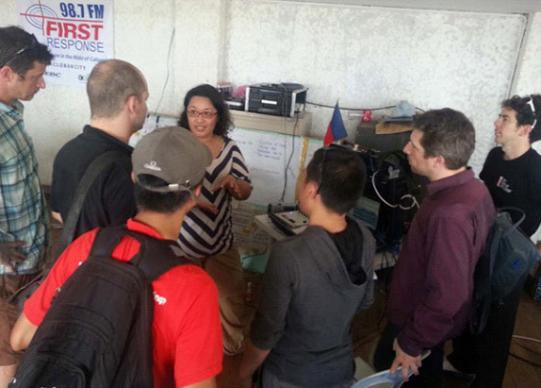 Maggie Yrasuegui shares FEBC-First Response Radio's ministry with the team. Photo courtesy of April Grace Mercado.