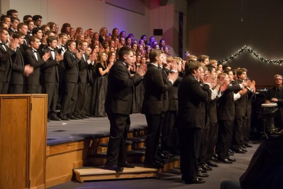 Students from four local high school students perform at St. Luke's United Methodist Church in Highlands Ranch to offer a healing Friday night after shootings at nearby Arapahoe High School earlier that day. Photo courtesy Ken Fong.