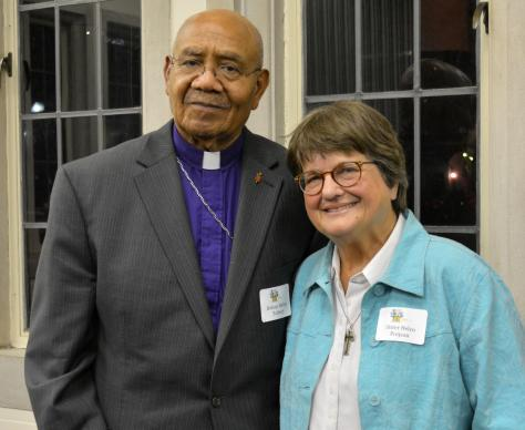 Bishop Melvin Talbert and Sister Helen Prejean at Scarritt-Bennett Center, Dec. 7. Photo by Beth Kindig.