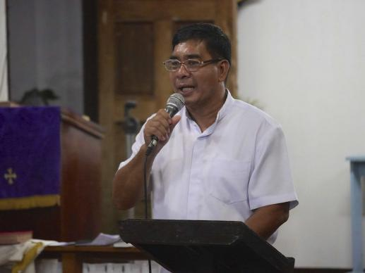 Rev. David Cosmiano is a United Methodist district superintendent for Eastern Visayas in the Philippines, a region heavily impacted by Typhoon Haiyan last November. Photo credit: Jerome Mercado