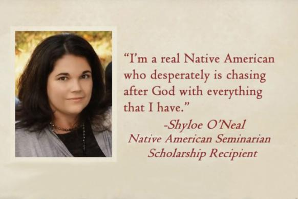 Shyloe O'Neal is a Native American Seminarian Scholarship Recipient. Video image from 'A Moment in Mission: Native American Ministries Sunday,' courtesy of United Methodist Communications.