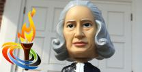 Photo illustration of John Wesley bobblehead. Courtesy of Steven Adair, United Methodist Communications