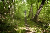 Faith is a journey. Photo of backpacker hiking in Montgomery  Bell State Park in Tenn. by Mike DuBose.