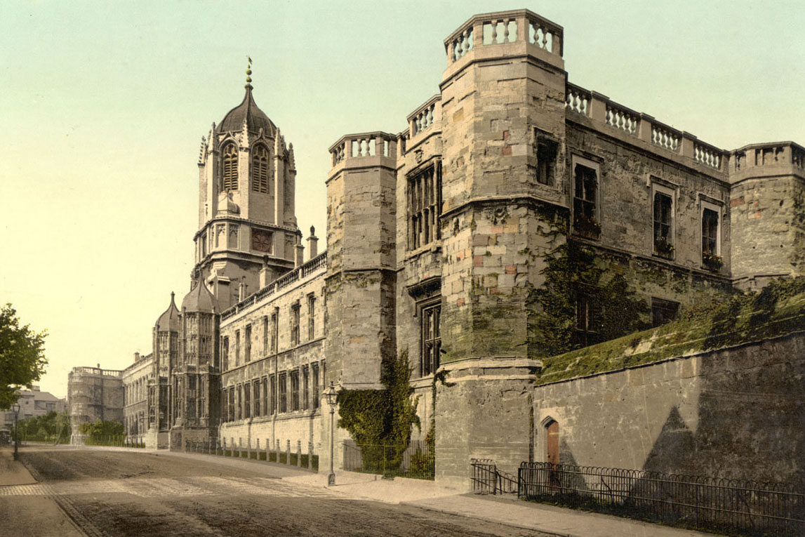 The Holy Club started here at Christ Church College, Oxford, England. Image by Photochrom Print Collection (Public domain), via Wikimedia Commons.