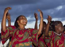 Choir members from the United Methodist church in Kamina, Democratic Republic of the Congo sing during a cultural celebration.  Photo by Mike DuBose, UMNS.