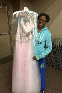 Charyma Smoot felt like a princess in her pink prom dress.