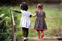 girls walk together, courtesy pexels.org