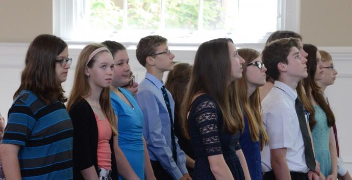Confirmation classes journey together toward their first profession of their intent to live as faithful disciples of Jesus Christ. Photo courtesy of Brecksville (Ohio) United Methodist Church.
