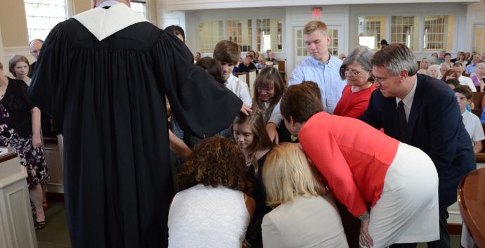 The church, family, and the Holy Spirit support and strengthen youth as they seek to live out the vows they make at their confirmation. Photo courtesy of Brecksville United Methodist Church.