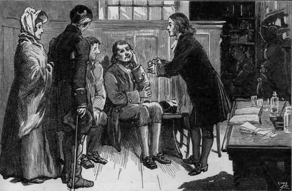 John Wesley often ministered to the sick during a life blessed by good health. Illustration courtesy of the United Methodist Commission on Archives and History.