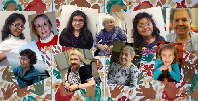 Young girls received wonderful advice from wise women. Collage by United Methodist Communications. Photos courtesy of Morgan Stafford, Vera Moore, Dee Dee Cobb Photography, The Rev. Marietjie Odendaal, and United Methodist Elder Care of Rhode Island.