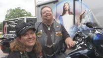 Patty and Eddie Gill founded the United Methodist Motorcycle Association, based in Oklahoma. Video image by Reed Galin, United Methodist Communications.
