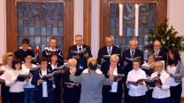The choir at Plauen United Methodist Church in Sachsen, Germany sings Christmas music.