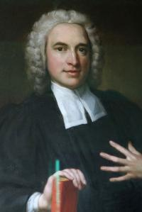 Oil on canvas portrait of young Charles Wesley.