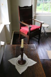 A quiet spot upstairs in the Wesley family home, where devotions may have occurred.