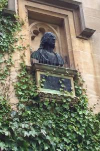 Bust of John Wesley at Lincoln College