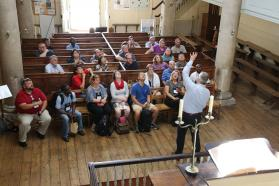 Wesley Pilgrims visit the New Room in Bristol.