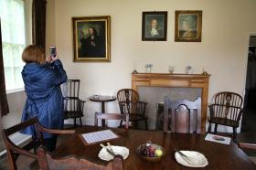 The Old Rectory dining room where Susanna and Samuel Wesley raised John and Charles Wesley.