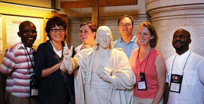 Wesley pilgrims learn a great deal about John Wesley, but the pilgrimage is ultimately about their relationship with Jesus Christ. Photo by Kathleen Barry, United Methodist Communications.