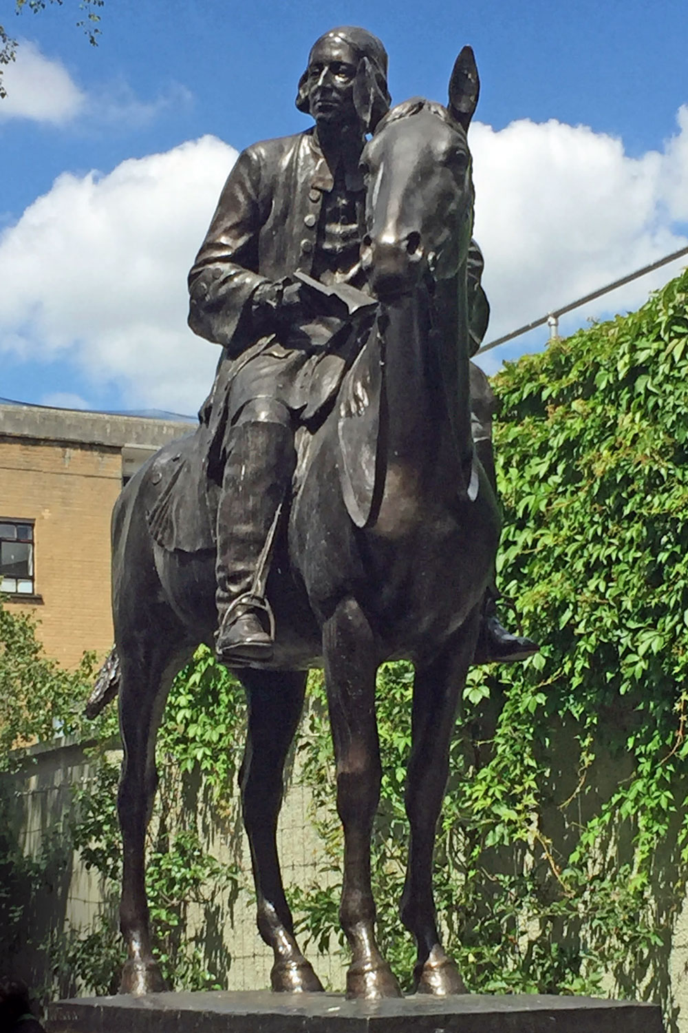 John Wesley spent a great deal of time on horseback, traveling around England and surrounding nations.