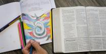 Coloring can be a creative addition to your Advent devotions this Christmas. Photo by Kathleen Barry, United Methodist Communications.