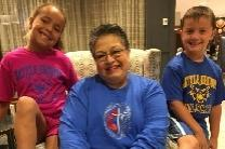 Bilha Alegria and two of her grandchildren at Lake Junaluska, a United Methodist retreat center.