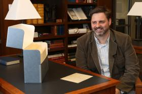 """Brandon Wason curated the """"Religion of the Heart"""" exhibit at Candler School of Theology."""