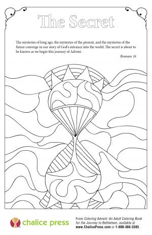 Advent coloring page: The Secret