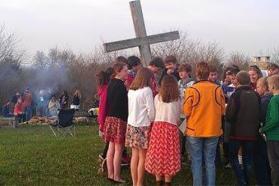 After sunrise worship in Lawrence, Kansas