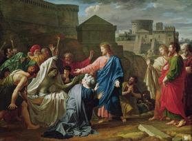 """Jesus Resurrecting the Son of the Widow of Naim"" by Pierre Bouillon (1776-1831)"