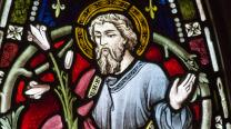 Image of Joseph in stained glass. Photo by Fr. Lawrence Lew, courtesy Flickr.