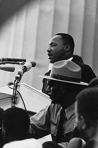 Martin Luther King Jr. led the nonviolent civil rights movement in the United States.