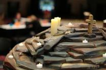 Candles burn in prayer room at General Conference 2016 in Portland, OR. Image courtesy of United Methodist Communications.