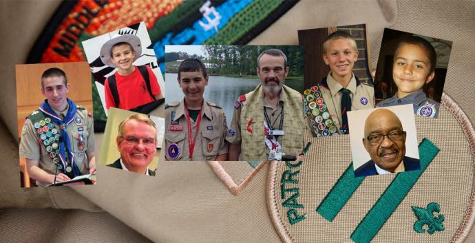 Young scouts received wonderful advice from wise men with much to share. Collage by United Methodist Communications. Photos courtesy of Mike DuBose, United Methodist Communications; Kent McNish, Ken Steppe; A. C. Moyer, Kevin Ellis, Landon Kohtz, David Ellis, and the Rev. Joe Shelton.
