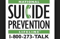 Poster produced by the National Suicide Prevention Lifeline, funded by the U.S.  Federal Substance Abuse and Mental Health Services Administration