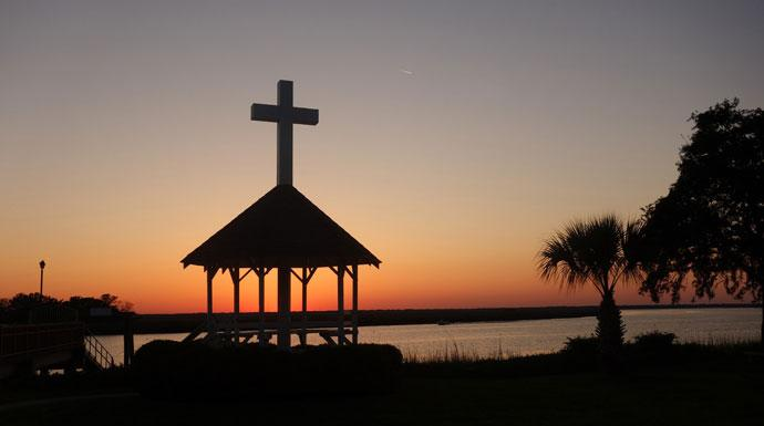 Epworth by the Sea - scenic photo of the Christian retreat center in St. Simons Island, Ga. named to honor the boyhood home of John and Charles Wesley. The center is a hospitality ministry of the South Georgia Conference of the United Methodist Church providing a place for worship, study and fellowship. Photo by Diane Degnan, United Methodist Communications.
