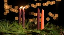 Advent Candles Week 2. Photo by Kathleen Barry, United Methodist Communications.