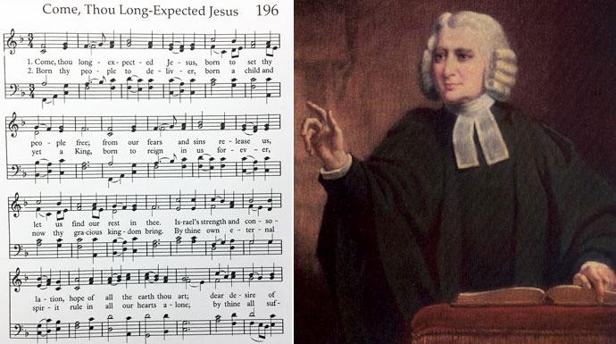 "Charles Wesley wrote many of the hymns that appear in The United Methodist Hymnal, including the beloved Advent Hymn ""Come, Thou Long Expected Jesus."" Photos by United Methodist Communications."