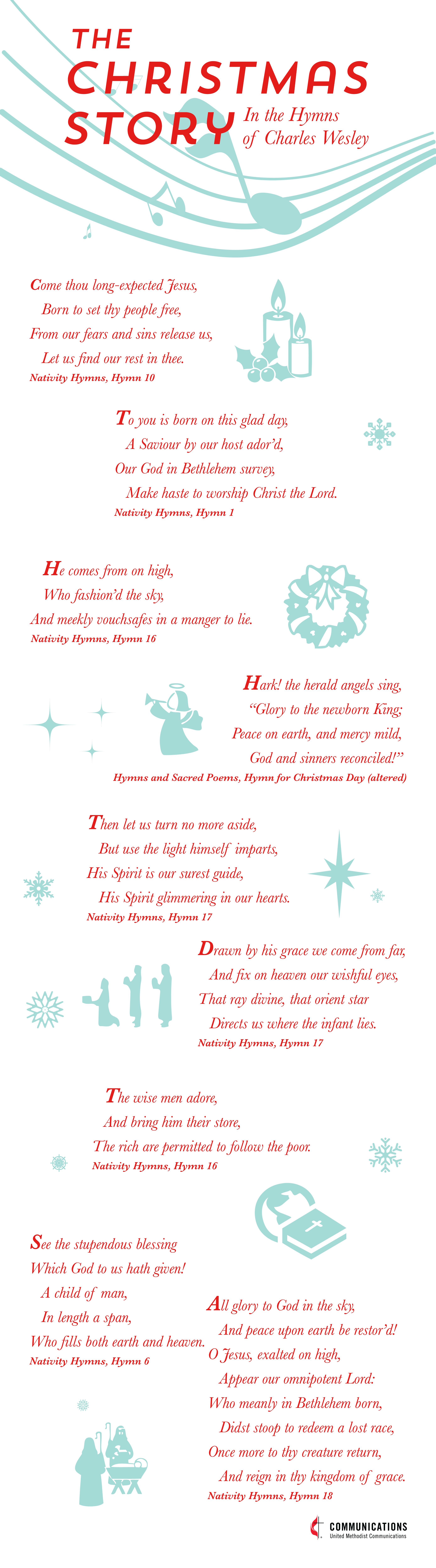Christmas in the Hymns of Charles Wesley Infographic