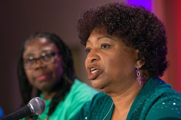 Garlinda Burton speaks at the 2018 United Methodist Women Assembly.