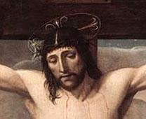 Detail from depiction of Jesus' crucifixion from the Louvre Museum. Photo by Josse Lieferinxe, courtesy Wikimedia Commons.