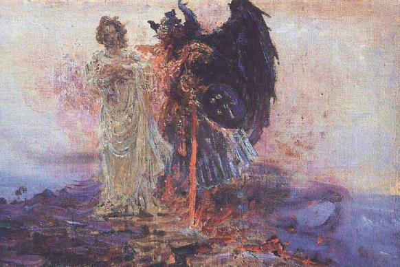 'Get Behind Me, Satan!' by Ilya Repin, 1895, public domain, courtesy of Wikimedia Commons.