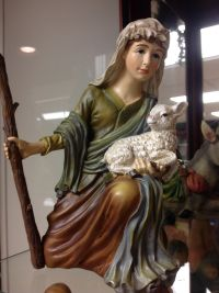 Shepherd figurine from the Nativity Museum at First UMC Tullahoma TN