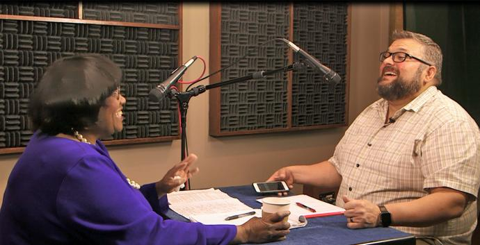 Our podcast chats teach about discipleship. Screen capture of video by United Methodist Communications.
