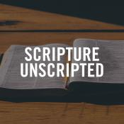 Scripture Unscripted podcast logo courtesy of Scripture Unscripted.